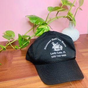vintage golf cart world Florida snap back hat